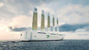 Progetto Oceanbird, nave a vento con delle vele particolari
