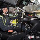 Marijan Griebel bei Testfahrten mit dem Opel Corsa-e Rally, 9. Dezember 2020