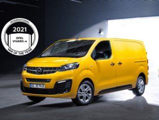 International Van of the Year 2021: eletto il Nuovo Opel Vivaro-e