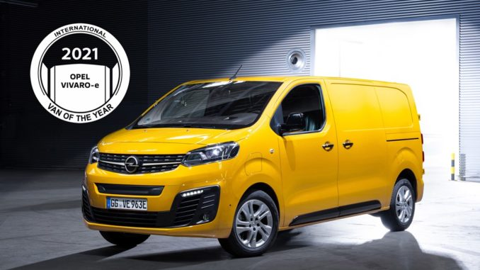 International Van of the Year 2021: eletto il Nuovo Opel Vivaro-e