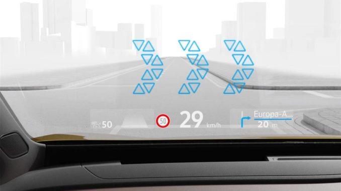 Volkswagen ID e il tecnologico head-up display a realtà aumentata