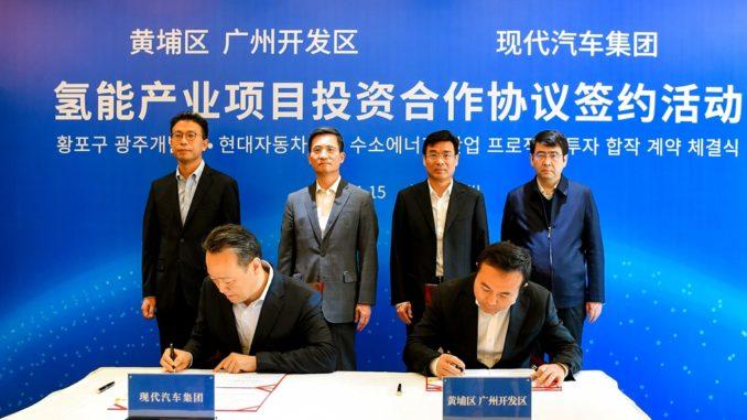 Nuovo impianto di celle a combustibile Hyundai a Guangzhou