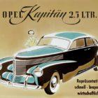 Werbung Opel Kapitän, 1948-1950