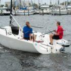 Spirit 1.0 Plus powering sailboat