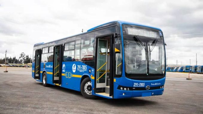 BYD per 406 autobus elettrici in Colombia