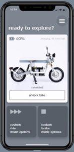 Nuova app mobile del leader svedese Cake di moto elettriche fuoristrada