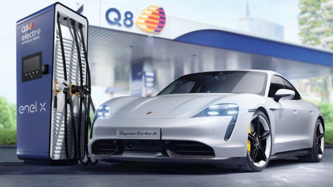 Impegno Porsche Italia, Q8 ed Enel X per ampliare la rete di ricarica ultrafast italiana