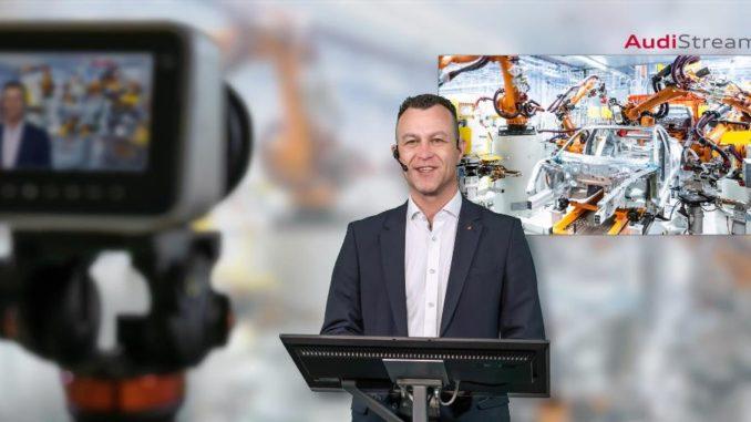 Con AudiStream si può fare un viaggio virtuale allo stabilimento di Neckarsulm