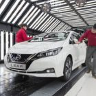 Nissan LEAF on the production line at the Nissan Sunderland plant