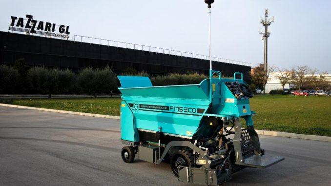 mini finitrice full-electric F175 ECO da CM e Tazzari EV Technology