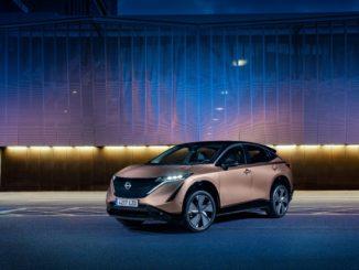 La gamma colori dell'elettrica Nissan Ariya