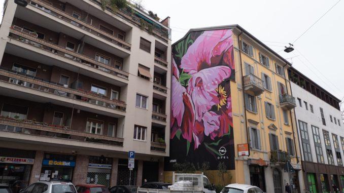 Murale artistico a Milano per la salvaguarda del pianeta dedicato da Opel e LifeGate