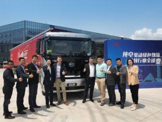 Camion elettrici da BYD a Budweiser China