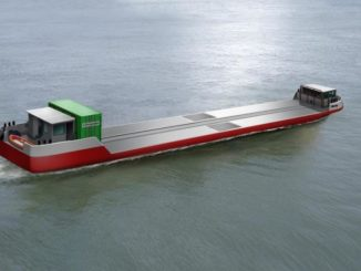 La prima nave mercantile a idrogeno al mondo debutta a Parigi