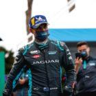 Mitch Evans (NZL), Jaguar Racing celebrates on the way to the podium