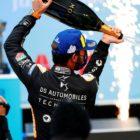 Jean-Eric Vergne (FRA), DS Techeetah, 1st position, sprays champagne