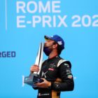 Jean-Eric Vergne (FRA), DS Techeetah, 1st position, with his trophy