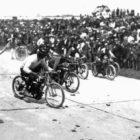 Motorradrennen auf der Opel-Bahn Schönauer Hof, 1922