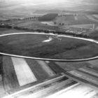 Opel-Bahn Schönauer Hof, 1929. Luftaufnahme mit Blickrichtung nach Südwest