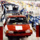 Endmontage des Opel Astra im Werk Eisenach (1992)