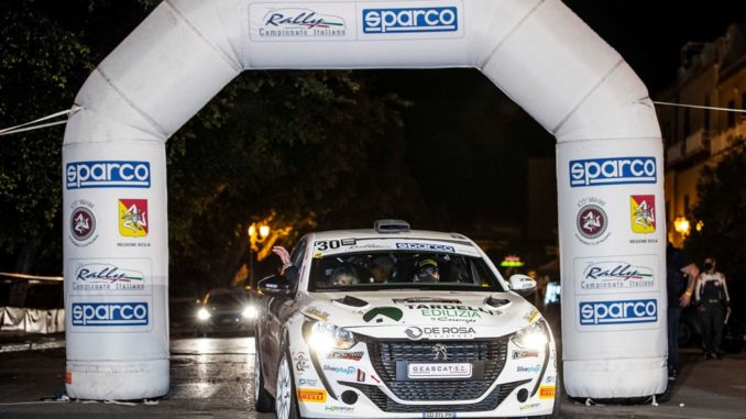 Lucchesi domina il Targa Florio nel Peugeot Competition 208 Rally Cup TOP