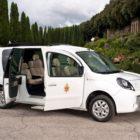 Renault Kangoo Z.E. and the Pope Benedict XVI