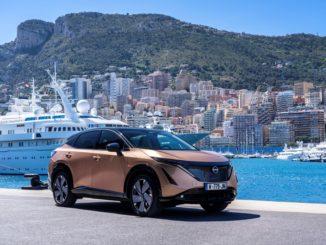 Debutto stradale di Nissan Ariya sul circuito di Monaco