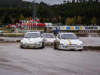 Impressionante mostra delle vetture del campionato FIA RX2e a Höljes