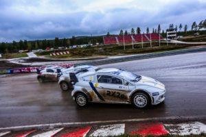 Una impresionante exhibición de autos del Campeonato FIA RX2e en Höljes