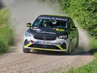 Il debutto dell'ADAC Opel e-Rally Cup