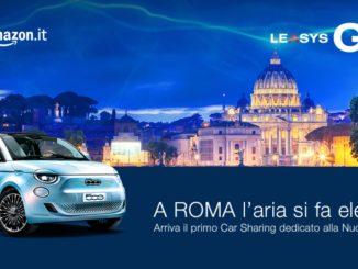 LeasysGO! arriva a Roma con il primo servizio di car sharing di Nuova 500 elettrica