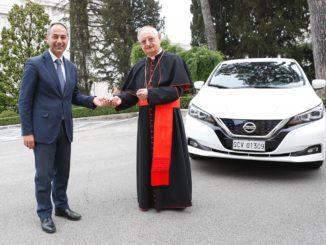 La strada del Vaticano verso la sostenibilità con Nissan Leaf