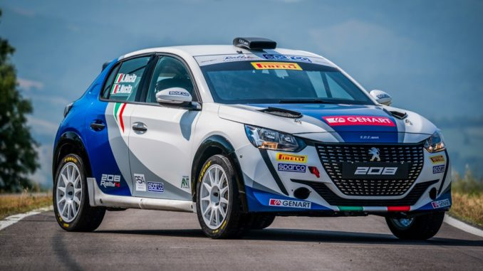 Peugeot 208 Rally 4 con nuova livrea