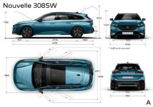 Presentata la Nuova Peugeot 308 SW, anche in versione ibrida plug-in