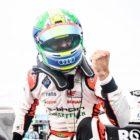 Lucas Di Grassi (BRA), Audi Sport ABT Schaeffler, 1st position, celebrates