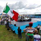 Edoardo Mortara (CHE), Venturi Racing, 3rd position, celebrates in Parc Ferme