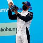 Edoardo Mortara (CHE), Venturi Racing, 3rd position, with his trophy