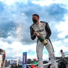 Edoardo Mortara (CHE), Venturi Racing, 3rd position, celebrates with Champagne