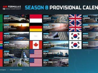 Il calendario provvisorio dell'ABB FIA Formula E World Championship 2021/22