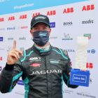 Sam Bird (GBR), Jaguar Racing, with the Julius Baer Pole Position Award