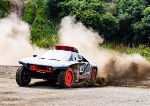 Primi test su strada di Audi RS Q e-tron, il prototipo elettrico laboratorio per la Dakar 2022