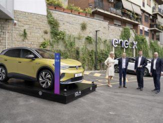 Joint venture paritetica tra Enel X e Volkswagen per la ricarica in Italia