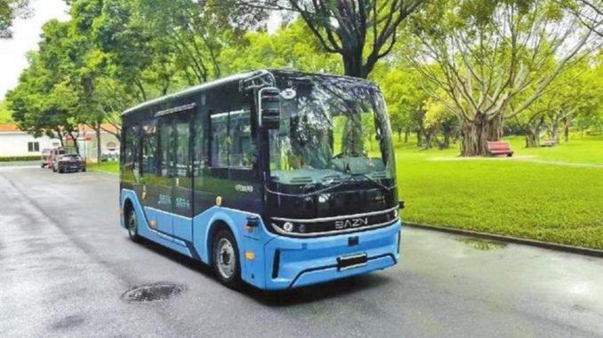 Nuovo bus elettrico autonomo in servizio a Shenzhen