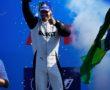 Edoardo Mortara (CHE), Venturi Racing, 2nd position, lifts his trophy
