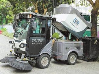 A Shenzhen, in servizio il raccoglitore spazzatura elettrico a guida autonoma