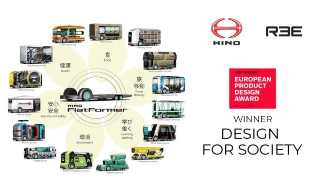 REE Automotive e Hino Win European hanno vinto l'European Product Design Award
