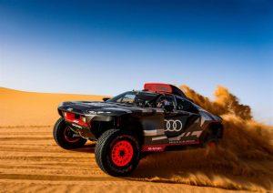 Test sul deserto marocchino del prototipo Audi RS Q e-tron per la Dakar 2022