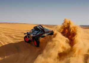 Sfida contro il tempo di Audi RS Q e-tron a cento giorni alla partenza della Dakar