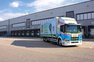 Primo camion elettrico di Lidl, frutto della sinergia con Scania ed LC3 Trasporti