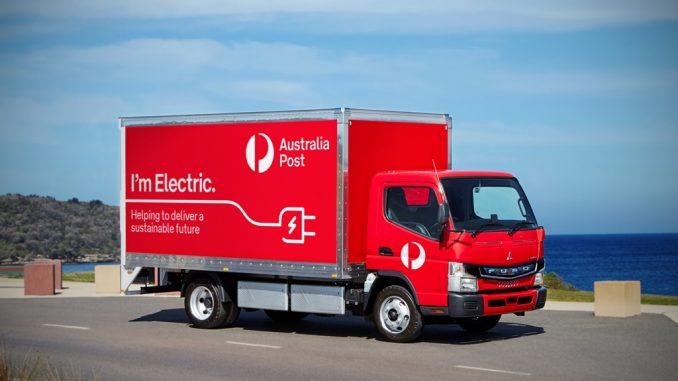 Venti camion Mitsubishi Fuso e-Canter all'Australian Post